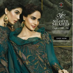 NILOFER SHAHID Chiffon Collection 2016