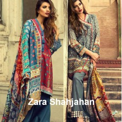 ZARA SHAHJAHAN Silk Winter Collection 2016