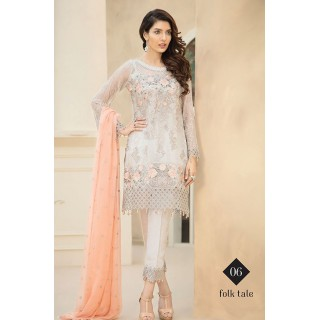 Jazmin Embroidered Chiffon By BAROQUE - 2017 - Design 06