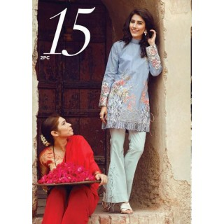 Cross Stitch Eid Lawn Collection 2017 - Azure Arches