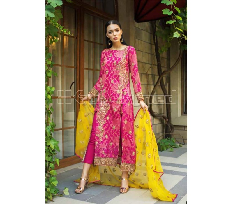 8bc17e23c4 GUL AHMED Bright Formal Collection -2019- PS-12