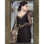 MARIA B Mbroidered Collection 2017 - BD-1101 - Black and Antique Gold