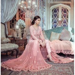 MARIA B Mbroidered Collection 2017 - BD-1103 -Pastel Peach