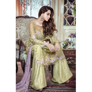 MARIA B Mbroidered Collection 2017 - BD-1105 -Apple green and Lilac