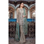 MARIA B Mbroidered Collection 2017 -  BD-1107 Moonlight and dull sea green