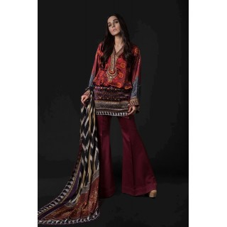 MARIA B Silk Collection 2017 - MSK-02-Maroon