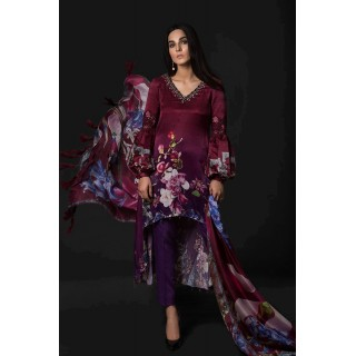MARIA B Silk Collection 2017 -MSK-04-Plum