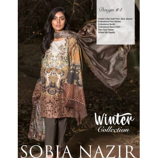 SOBIA NAZIR Winter Collection 2017 - Design 04