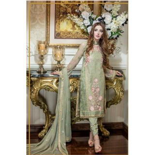 MK Embroidered Chiffon Collection by TRADITIONS- 2017- Design - 02