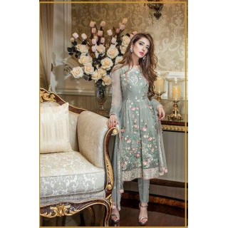 MK Embroidered Chiffon Collection by TRADITIONS- 2017- Design - 04