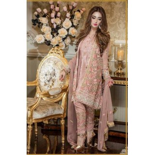 MK Embroidered Chiffon Collection by TRADITIONS- 2017- Design - 05
