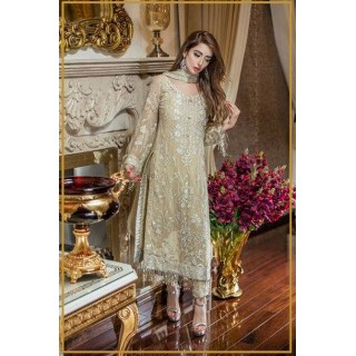 MK Embroidered Chiffon Collection by TRADITIONS- 2017- Design - 07