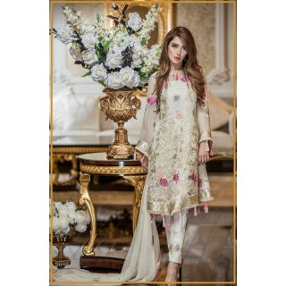 MK Embroidered Chiffon Collection by TRADITIONS- 2017- Design - 08