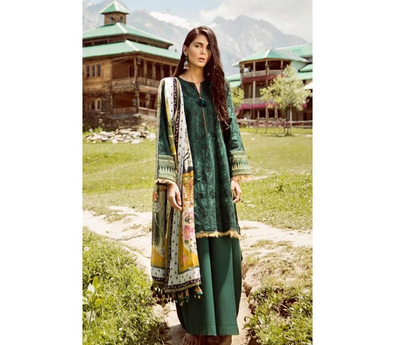 7b1889395c Zara Shahjahan Mushk Luxury Lawn Collection - 2018 - Design 1