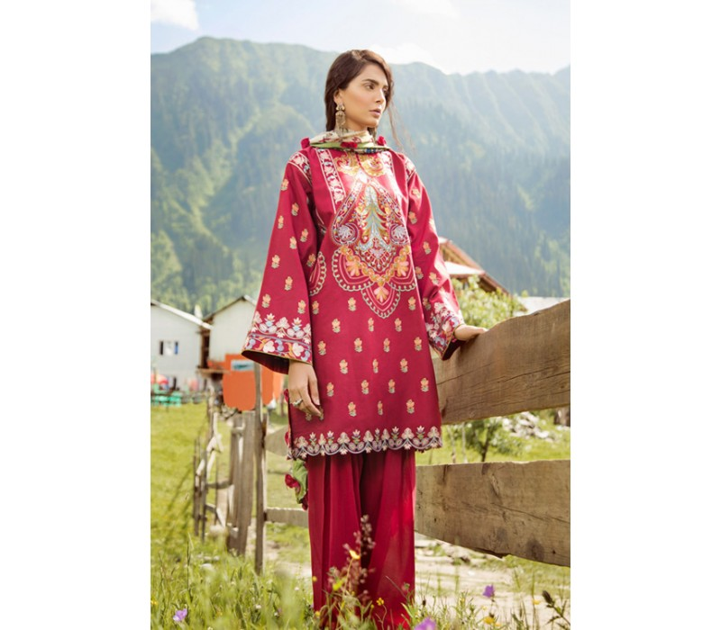 6dabca30ab Zara Shahjahan Mushk Luxury Lawn Collection - 2018 - Design 6